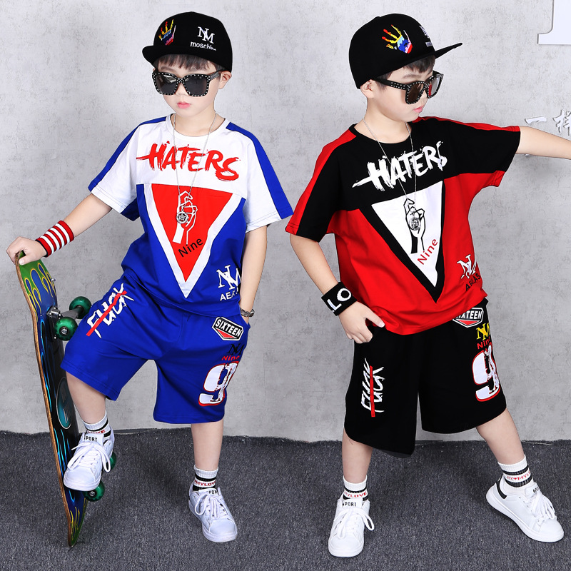 2020 Summer Boys Clothing Set Children Tracksuits Short Sleeve T-shirt and Shorts Pants Two piece Kids Boy Clothes Sport Suits