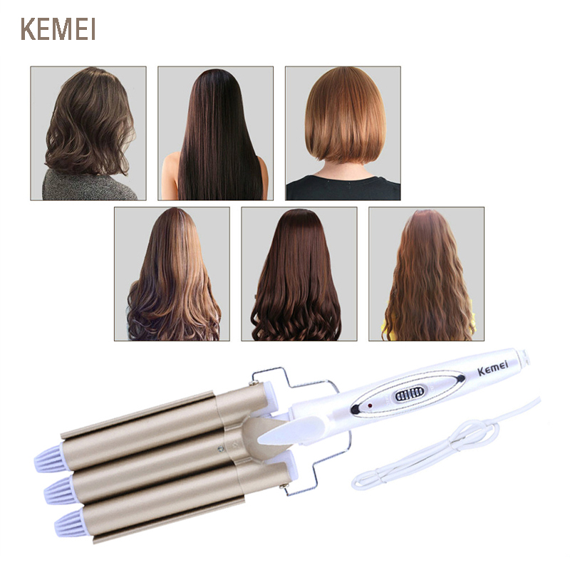 Kemei hair curler Curling Professional hair care & styling tools Wave Hair styler curling irons Hair crimper krultang iron 5