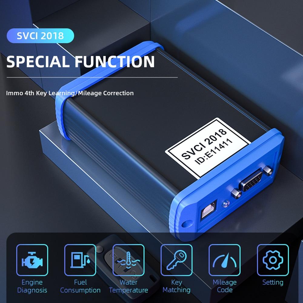 SVCI FVDI 2018 OBD2 Key programmer all function of VVDI2 V2015 V2014 FVDI J2534 No Limited