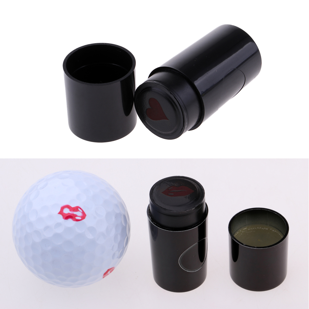 2Pcs Personalized Golf Ball Stamper Cute Heart & Lips Shape Gift For Golfer