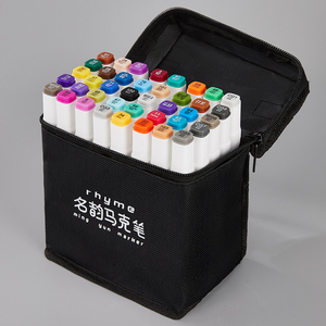 12/24/36/48/60 Colors Dual Tip Art Marker Pens Fine Liner Markers Watercolor Drawing Painting Pen Brush School Supplies 04379(China)
