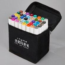 Esboçar marcadores dupla ponta marcador de arte canetas forro fino marcadores aquarela desenho pintura caneta escova escritório para a escola 04379
