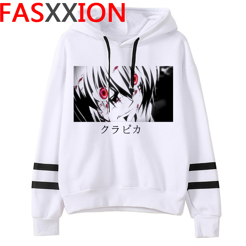 New Japanese Anime Hunter X Hunter Hoodies Men Kawaii Killua Cartoon Hisoka Graphic Streetwear Unisex Tops Sweatshirts Male