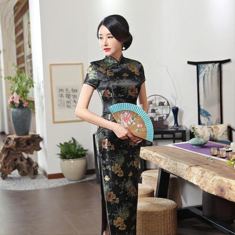 C0136-A Performance Wear Cheongsam Long Vintage Improved Slim Fit Fashion Shao Shu Women's Mom Cheongsam Direct Selling