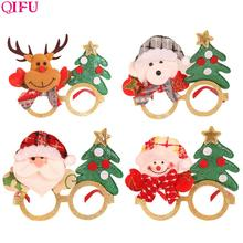 QIFU Merry Christmas Glasses Decorations For Home Kids Ornaments 2019 Natal Santa Claus Happy New Year Gift
