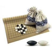 Standard Go chess for match 19 line 361pcs Chessman Go chess game Diameter 2.2cm Leather Chessboard Cloth Bag Weiqi toy G8301 line go go fc 1623