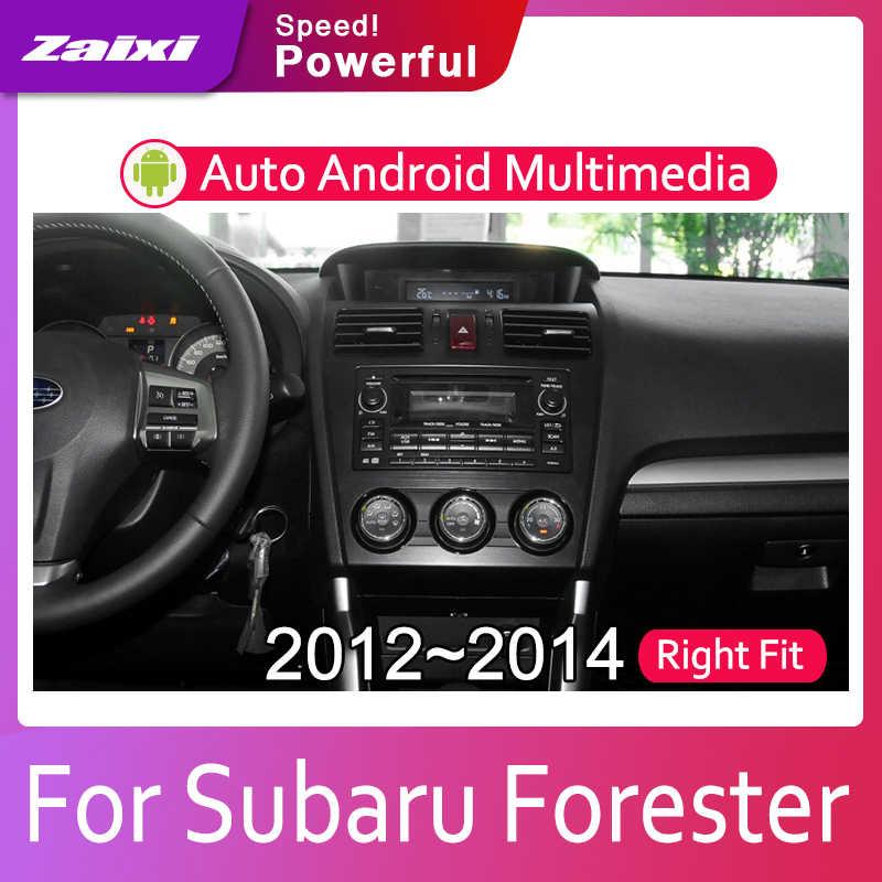 ZaiXi Android 2 Din Car radio Multimedia Video Player auto Stereo GPS MAP For Subaru Forester XV 2012~2014 Media Navi