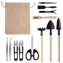 13 sztuk Mini ogród narzędzia ręczne przesadzanie odkryty Bonsai narzędzia sadzenia kwiat soczyste miniaturowe narzędzia ogrodnicze tanie tanio KKMOON NONE CN (pochodzenie) Wielofunkcyjny łopata i łopata Other Gardening Tools Ogród łopata