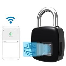 Smart Keyless Door Lock Bluetooth Wireless APP Unlock Fingerprint Lock Security Padlock Support 40 Fingerpints Luggage Case Lock