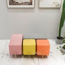 Роскошная нордическая ткань Макарон Цвет Подгонянный туалетный стул Сменная обувь маленький диван Мода Гостиная кресла для макияжа