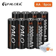 Palo 1.2V Aa Oplaadbare Batterij 3000Mah Ni-Mh Aa Batterij Oplaadbare Voor Zaklamp Batterij Aa