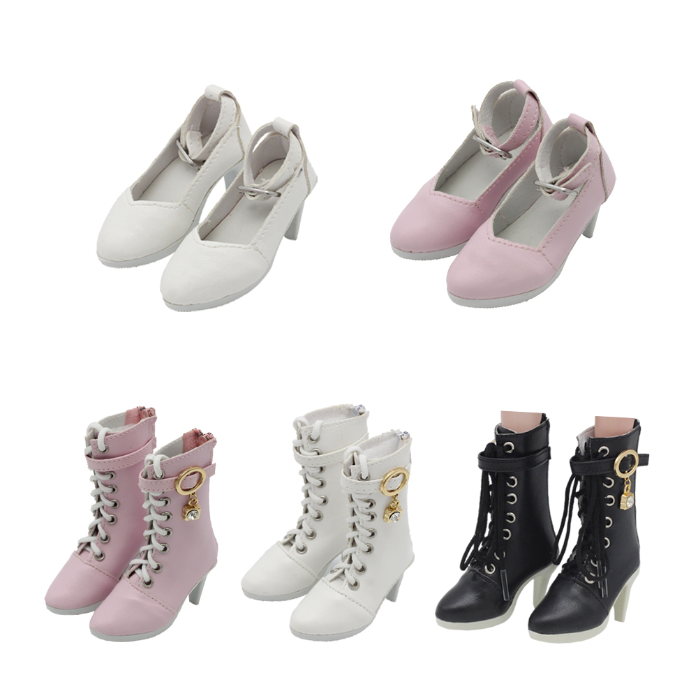 60cm Doll Lace-up Boots 3 Points BJD Doll Salon Doll Boots Girl Doll Toy Accessories Shoes