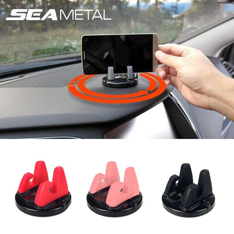 Car Gadget Car Phone Holder 360 Degree Rotatable Smartphone Stands Support Anti Slip Mobile GPS Navigation Dashboard Line Holder