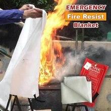 1,2 м x 1,2 м герметичное противопожарное одеяло Домашняя безопасность противопожарный тент для пожаротушения лодка аварийная противопожарная защита защитный чехол