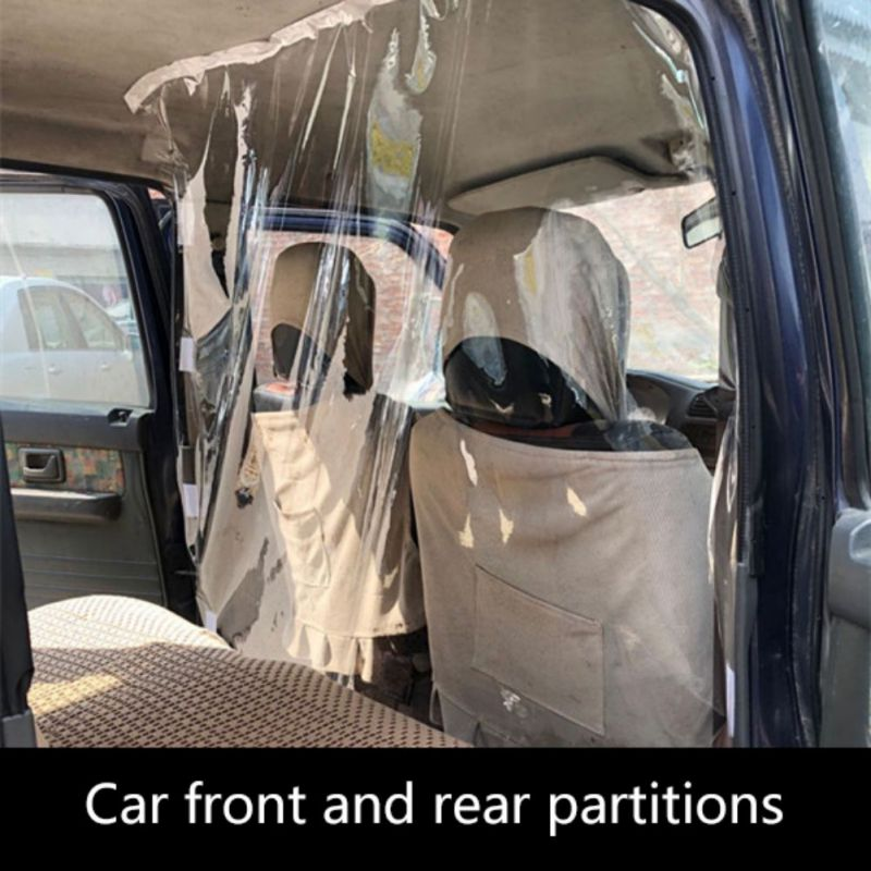 Car Protection Partition Screen Taxi Driver Cab Isolation Film Transparent Anti-droplet Protective Film Interior
