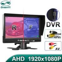 GreenYi AHD Aufnahme DVR 7 Inch Auto Monitor mit 1920*1080P Fahrzeug Rückansicht Kamera für Lkw Bus unterstützung Sd-karte