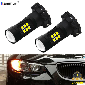 Нет ошибок Янтарный PY24W 5200s светодиодные лампы для Audi A4 B8 Q5 BMW E90 E91 E92 E83 X3 E70 F10 F11 F12 F13 F07 передние указатели поворота