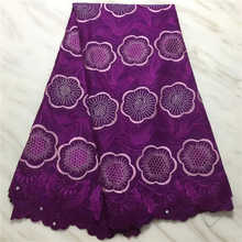 Factory price2019 Latest Style African dry Lace Swiss With stones Fabric For Christmsas Party Dresses lace Winn568s