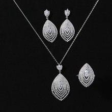 Женский винтажный комплект украшений hadiyana кольцо и серьги