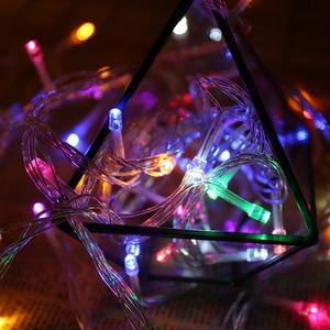Image 4 - 50M/400 100M/600 LED 요정 LED 문자열 빛 야외 방수 AC220V 휴일 문자열 화환 크리스마스 결혼식 파티