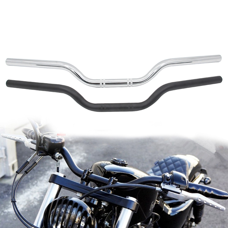 1 Inch 25mm Universal Motorcycle Handlebar Drag Straight Bar Dual Sport Bike Cruiser Bobber Street Bike Offroad
