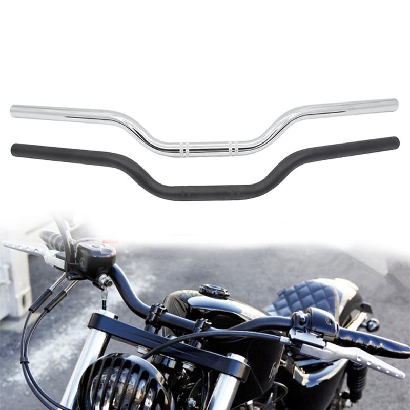 1 Inch 25mm Universal Motorcycle Handlebar Drag Straight Bar Dual Sport Bike Cruiser Bobber Street Bike Offroad