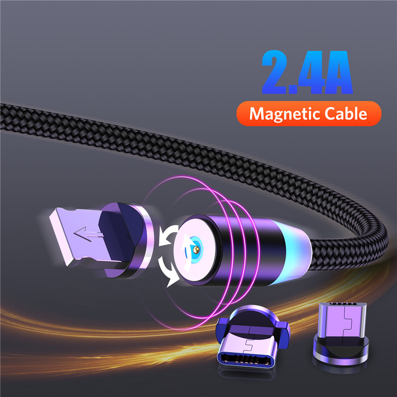 OTTWN Magnetic USB Cable Fast Charging USB Type C Cable Magnet Charger Data Charge Micro USB Cable Mobile Phone Cable USB Cord