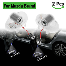 цена на LED car light for mazda logo projector lighting car door lights courtesy welcome lamp ghost shadow led for mazda 6 8 CX9 A8 RX8