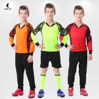 Adult Kids Soccer Goalkeeper Uniform Protective Sponge Long Sleeve Football Jersey Training Uniforms For Child - discount item  45% OFF Sportswear & Accessories