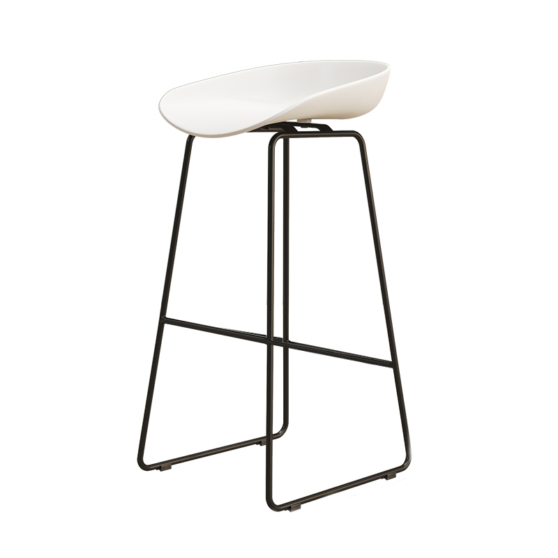 Nordic Bar Chair Iron Art Black  Stool Modern Simple Home Back High  Creative Personalized