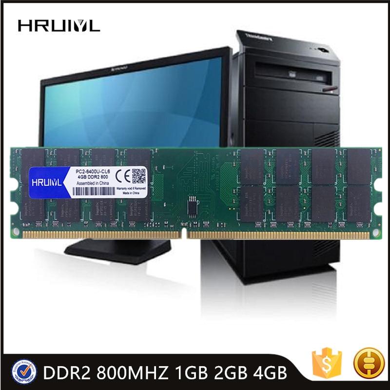Hruiyl inter memória ddr2 800mhz 1gb 2gb 4 ram memoria módulo dimm pc placa mãe PC2 6400U memoria nova memoria varas ram novo|RAM|   - AliExpress