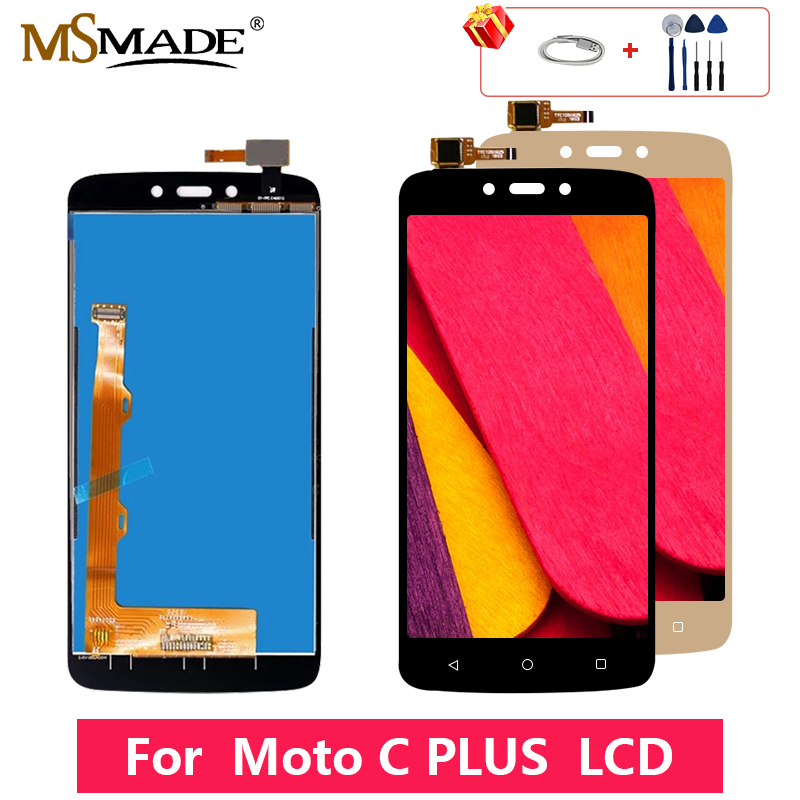 For Motorola Moto C Plus XT1721 XT1722 <font><b>XT1723</b></font> XT1724 LCD Display Touch Screen Digitizer Replacement Parts With Frame 5.0