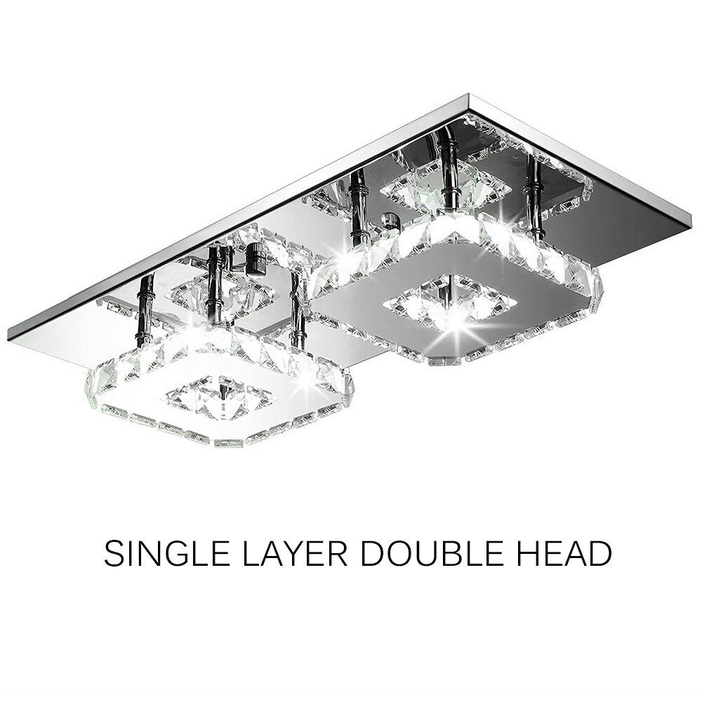 24w retângulo de cristal lâmpada do teto