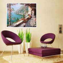 Frameless Corridor Abstract Painting DIY Digital Oil Paint By Numbers Canvas Modern Wall Art Picture For Home Artwork simple inspirational english alphabet big dreamer canvas painting art abstract print poster picture wall home decoration