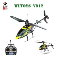 Original WLtoys V912 RC Drone 4CH 2.4G Single Blade Brushless Motor Head Lamp Light RC Quadcopter Helicopter Toys For Kids Gifts