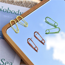 korean Fashion Colorful Safety Pin Geometry Stud Earrings Creative Cute Candy For Women Funny Party fine Jewelry Gift