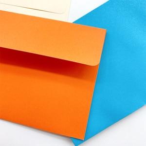 Image 2 - 100ピース/ロット素敵なキャンディーカラー封筒はがき文具紙封筒学校オフィスギフトクラフト封筒