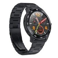 Dt98 chamada bluetooth relógio inteligente tela cheia imprensa ip68 à prova dip68 água ppg freqüência cardíaca monitor de pressão arterial para xiaomi huawei