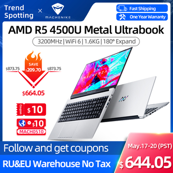 Machenike AMD Ryzen 5 4500U Laptop WiFi 6 Ultrabook R5 4500U 8G 3200MHz 512G SSD 15.6'' FHD Notebook Office Student Laptop 1