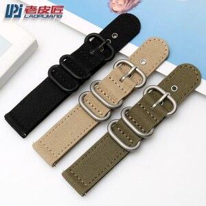 "Image 5 - Laopijiang ניילון שעונים רצועות 18mm 20mm 22mm 24mm נאט""ו זולו רצועת עבה בד רצועת השעון ספורט מהיר שחרור בר להקת שעון"