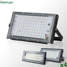 4pcs/lot Led Flood Light AC 220V Outdoor Floodlight Spotlight IP65 Waterproof 30W 50W 100W LED Street Lamp Landscape Lighting