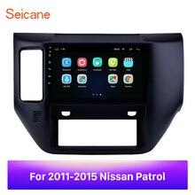 """Seicane para 2011 2012 2013 2014 2015 nissan patrol 9 """"2din android 8.1 rádio do carro gps hd touchscreen wifi multimídia carro jogador"""