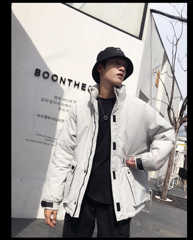 Men's Quality Student Winter Clothes Jacket Men Parka Thick Warm Outwear Korean Youth Streetwear Hip Hop Japan Style Harajuku 29