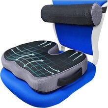 For Tailbone Sciatica back Pain relief Comfort Office Chair Car Seat Cushion Non-Slip Orthopedic Memory Foam Coccyx Cushion