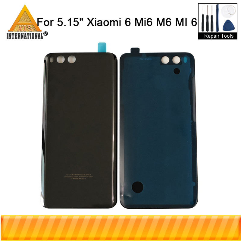 <font><b>Original</b></font> Axisinternational Ceramic <font><b>Battery</b></font> <font><b>Cover</b></font> For <font><b>Xiaomi</b></font> 6 <font><b>Mi6</b></font> M6 Mi 6 Back <font><b>Battery</b></font> <font><b>Cover</b></font> Housing With 3M Adhesive Sticker image
