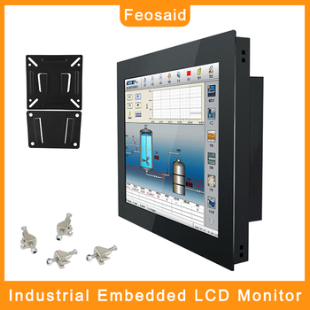 Feosaid 19 inch 21.5 Industrial Computer Monitor 19 23.6 Resistance Touch screen display Tablet Monitor VGA DVI input for pc 19 21 5 23 6 inch monitor vga dvi resistance usb touch lcd computer display screen open frame computer monitor screen 1440 900