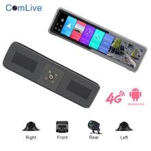 Newest T88 Android 9.0 4CHs record 360° view car black box 2+32G GPS navigation car black box night vision phone remote monitor