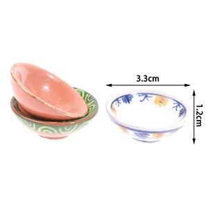 1 шт. кукольный домик мини керамика посуда чаша для овощей рисовая чаша кукла кухонная мебель Игрушки для маленьких детей