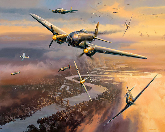 Painting By Numbers Battle Of Britain Heinkel He-111 Bomber WW2 Military Luftwaffe