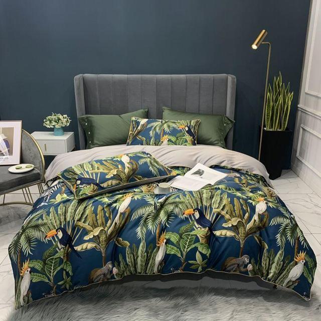 Egyptian Cotton Bedding Set Tropical Toucan